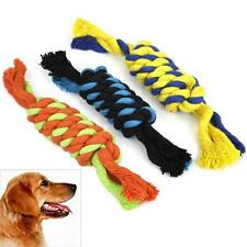 3 X Chew Toy with Knot Fun Tough Puppy Small Dog Pet Tug War Play Cotton Rope