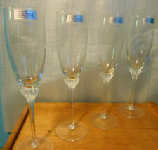 4 TUSCANY HAND BLOWN CRYSTAL WINE GLASSES - MADE IN KROSNO POLAND