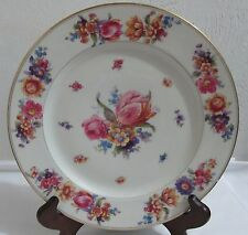 Set Of 5 Vintage Schlaggenwald Dinner Plate with 5 (five) different Flowers Patt