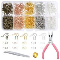 1128 Pieces Earring Making Supplies Kit with Earring Hooks, Jump Rings, PliP9U6