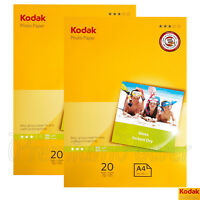 40 sheets x KODAK A4 Photo Paper Glossy 210 x 297mm 180gsm for inkjet printers