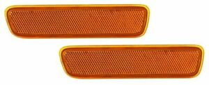 FIT CHRYSLER PACIFICA 2004-2008 FRONT BUMPER REFLECTORS SIDE MARKER LIGHTS PAIR