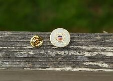United States Coast Guard 1790 Gold Tone Metal & Enamel Lapel Pin Pinback
