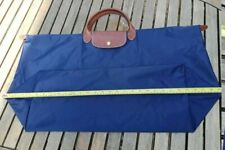 Authentic Longchamp XL LARGE Folding Travel Weekend Bag Navy Blue nylon Unisex