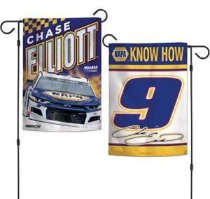 Chase Elliott Garden Flag 2 Sided 2020 Napa Race Car #9 NASCAR Cup Series
