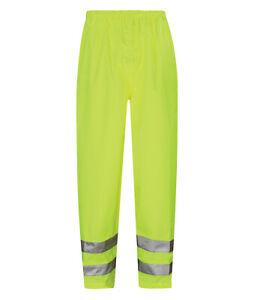 Hi Vis Hi Visibility Breathable Over Trousers - Hi Viz Yellow - HVTB01
