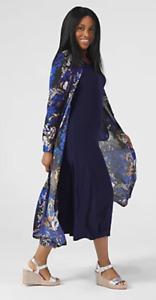 Attitudes By Renee Textured Button Maxi & Como Petite Maxi Dress, 3XL, Blue,BNWT