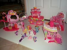 My Little Pony Ponyville  Lot Houses Accessories + Ponies