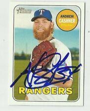 Texas Rangers ANDREW CASHNER  Signed 2018 Topps Heritage Card #149
