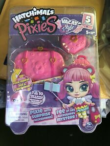 Brand New Hatchimals Pixies Vacay Style Blind Bag Collectible Doll & Accessories