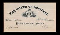 William Quantrill's Raiders Autograph Reproductions On Genuine 1860s Paper st146