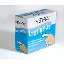 144 NEW LARGE LATEX FINGER COTS SEALED BOX OF 144
