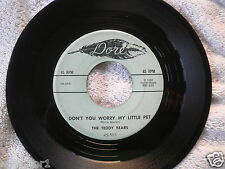 1958 The Teddy Bears Dore Records 45-503 To Know him is to love him 45 Rpm Vg