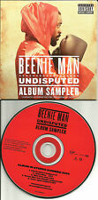 BEENIE MAN & AKON Undisputed 5TRX RARE SAMPLER USA 2006 PROMO DJ CD single MINT