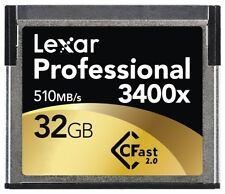 Lexar Professional 3400x 32GB CFast 2.0 Card (Up to 510MB/s Read) LC32GCRBNA3400