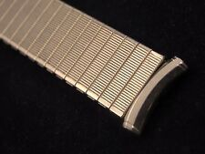 18mm Speidel Yellow Gold Filled Mens Vintage Watch Band Straight Expansion