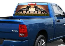 Black Horses Rear Window Decal Sticker Pick-up Truck SUV Car