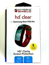 2 ZAGG INVISIBLE SHIELD HD CLEAR SCREEN PROTECTORS | FITS SAMSUNG GEAR FIT2 PRO!