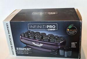 Infiniti Pro Conair Ceramic Flocked Instant 85 Sec Heat Rollers 20; 4 Sizes