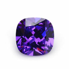 10X10mm AAAAA Purple Sapphire Square Cushion Faceted Cut 6.76ct VVS Loose Gem