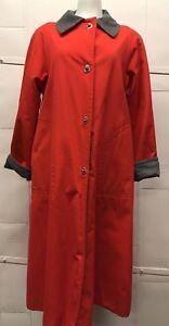 Vintage Women's Bonnie Cashin Red Storm Coat w/ Turnlock Closure GreyLiningM/L