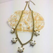 Urban glam oro cadena gargantilla collar de perlas de detalle