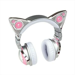 F/S LED Cat Ear Headphone 8 Color AXENT WEAR Bluetooth Ariana Grande NEW