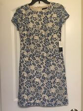 Tommy Hilfiger NWT Blue White Lace Floral Women's Size 2