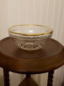 Waterford Crystal Bowl Marquis Hanover Gold Rim Bottom Hallmark
