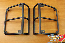2007-2018 Jeep Wrangler JK Black Satin Rear Tail Light Covers Mopar OEM
