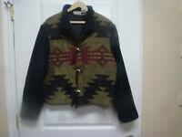 Coldwater Creek  Women's Size XL Southwest Aztec Tapestry  Bolero Jacket