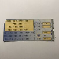 Ozzy Osbourne Louisville Gardens Kentucky Concert Ticket Stub Vintage July 1989