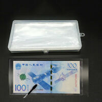 100 Pcs Paper Money Storage Box Album Currency Banknote Case Holder Collection