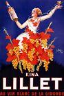 Kina Lillet White Wine Liquor  Woman Grapevines Vintage Poster Repro FREE S/H