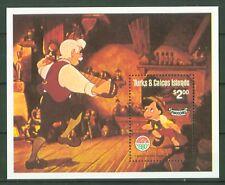 Turks & Caicos 1980 - Pinocchio Weihnachten Walt Disney - Bandonion Bandoneon