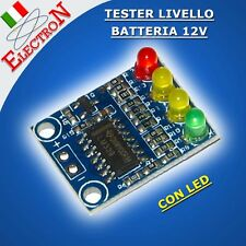 TESTER LIVELLO BATTERIA 12V Piombo a 4 LED Lead acid BATTERY LED LEVEL INDICATOR