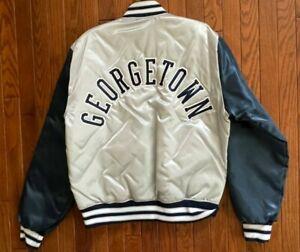 Vintage Georgetown NCAA Starter Style Satin Jacket Size Large * USA Made