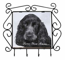 Blue Roan Cockers 'Love You Mum' Wrought Iron Key Holder Hooks Chr, AD-SC25lymKH