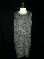 MICHAEL KORS Plus Size 2X Dress Black White Gold Zipper Stretch Sleeveless