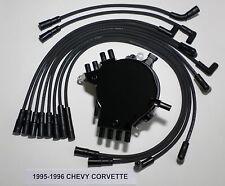 CHEVY CORVETTE 1995-1996 LT1 5.7L OPTISPARK Distributor & BLACK Spark Plug Wires