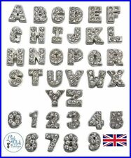 Alloy Crystal Letters, Numbers Words Costume Charms & Charm Bracelets