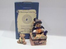 Boyds Bears Le Bearmoge Collection - Miles Give Thanks Porcelain Hinged Box