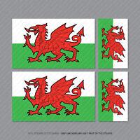 4 X Welsh Wales Dragon Flag Car Bike Helmet Vinyl Stickers Decals - SKU5306