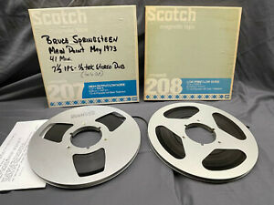 """2 Scotch 3M Metal Reel to Reel Tapes In Boxes 207 208 10.5"""" 1/4"""" audio tape"""