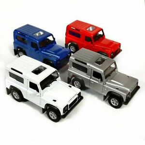 Die Cast Land Rover Defender Pull Back and Go Model Car Toy 1/38 Scale Detailed