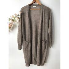 Dries van Noten Gold Shimmer Alpaca Cardigan Sweater Sz Small