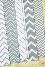 Grey Chevron Card Stock 250gsm scrapbook zigzag cardstock wedding craft postcard