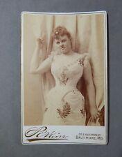Ca.1890 Albumen Cabinet Card Photograph Cora Tanner Actress Perkins Baltimore Md