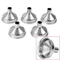 5X Stainless Steel Round Shaped Wide Mouth Hip Flask Funnel For Alcohol Bottle