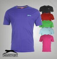 Mens Slazenger Short Sleeves Plain Crew Neck Lightweight T-Shirt Top Sizes S-4XL